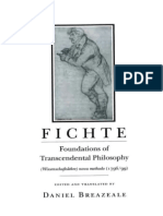 Johann Gottlieb Fichte_ Edited and Translated by Daniel Breazeale-Foundations of Transcendental Philosophy (Wissenschaftslehre) Nova Methodo (1796 _ 99) -Cornell University Press (1992)