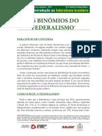 1.1. Os Binômios Do Federalismo