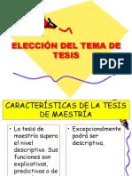 3. Elección Del Tema de Tesis