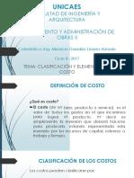 Pao II 2017 - Clase 02 - Fundamentos Del Costo
