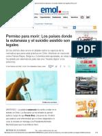 Los Países Donde La Eutanasia y El Suicidio Asistido Son Legales _ Emol.com