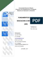 1 Fundamento de La EAD Msc. Ana Fabiola Fernández E Ing. Avilio Robles