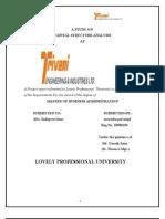 Capital Structure Analysis of Triveni