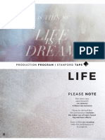 Life is a Dream Production Program