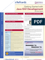 RefCardz Gui Development in Java
