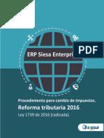 Procedimiento Cambio de Impuestos Reforma Tributaria Ley 1739 de 2016 Ver 5