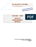 Centra Quality Manual Iso 9001 2008