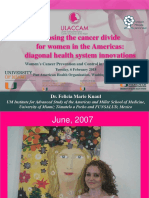 Closing the cancer divide  for women in the Americas