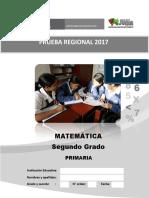 Evaluacion de Proceso Matematica 2017 2º Primaria