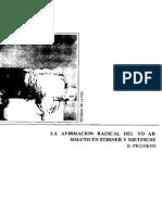 Prohens, B. - La afirmación radical del yo absoluto en Stirner y Nietzsche.pdf