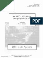 AASHTO LRFD Bridge Design Specifications SI Units Third Edi