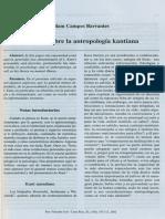 Apuntes Antropología Kantiana