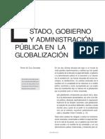 Estado, Gobierno y Admon Pública en La Globalización