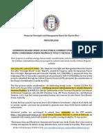 Com Prensa Junta Primeros 4 Candidatos a Proyectos Criticos