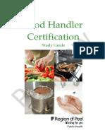 Food Handler Certification Study Guide Sample