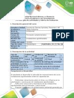 Guía y Rubrica Fase 1. Revisión de Pre Saberes.
