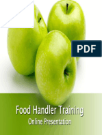 Food Handler Training Presentation