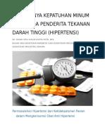 Kepatuhan Dalam Minum Obat Pada Penderita Hipertensi