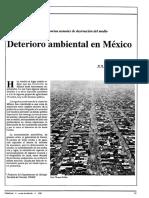 Deterioro Ambiental Revista Ciencias Unam n.13 1988