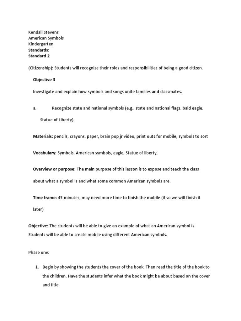 American Symbols Reading Comprehension Human Communication