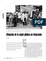 Situación de Salud Pública en Venezuela