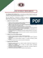 Politica Calidad, Seguridad y Medioambiente Radiadores Santo Domingo 02-06-2017