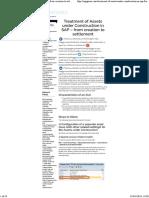 Treatment AuC in SAP
