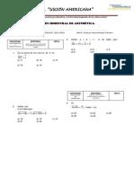 EXAMEN BIMESTRAL N°1 - 2DO SEC - ARITMÉTICA 2015