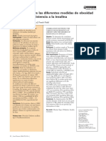 Correlación Entre Las Diferentes Medidas de Obesidad y El Grado de Resistencia a La Insulina