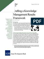 Crafting Knowledge Management Results Framework