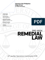 2016 Remedial Law Pre- Week