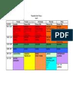 timetable- term 1 2018