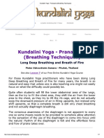 Kundalini Yoga - Pranayama (Breathing Techniques)