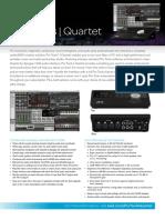 Pro Tools Quartet Datasheet