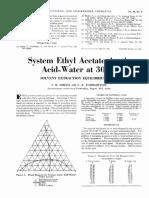 Diagrama ternario Etil acetato-Ácido Acético-Agua
