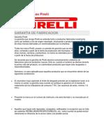 Garantía 5 Años Pirelli