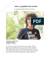 El Lado Siniestro (y Populista) Del Corazón (Orlando Oliveros)