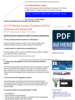 30 TOP Bipolar Junction Transistors (BJTs) Questions and Answers PDF Bipolar Junction Transistors (BJTs) Questions