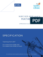 Wjec a Level Maths Specification