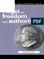 (University of Wales Press - Political Philosophy Now) Renato Cristi-Hegel on Freedom and Authority -University of Wales Press (2005).pdf