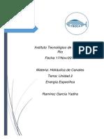 Unidad 2 Ramirez Garcia Yadira Energia Especifica