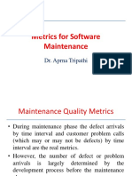 Metrics for softwa Maintenance