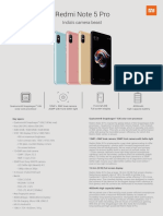Redmi Note 5 Pro_One Pager