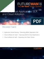 Future WAN - Critical Applications SLA and Cloud Adoption