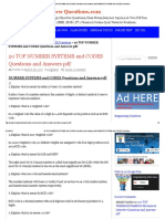 20 Top Number Systems and Codes Questions and Answers PDF Number Systems and Codes Questions