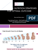 Parenteral Nutrition Strategies for Optimal Outcome