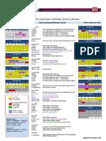 2017-18 Co-Curricular Activities (CCA) Calendar