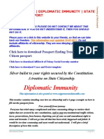 Beat the Law - Diplomatic Immunity - State Citizen Passport