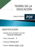 Presentacion Teoria de La Educacion