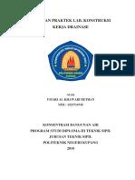Laporan RAB Praktek Kerja Drainse Politeknik Negeri Kupang
